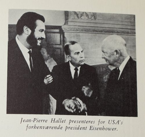 Jean-Pierre Hallet with Eisenhower